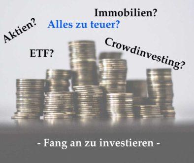 Fang an zu investieren